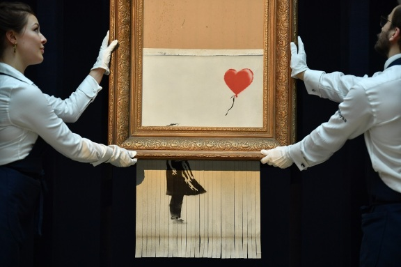 BRITAIN-ENTERTAINMENT-ART-BANKSY-AFP PICTURES OF THE YEAR 2018
