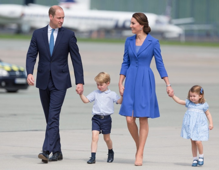 Duke and Duchess of Cambridge leaves Poland