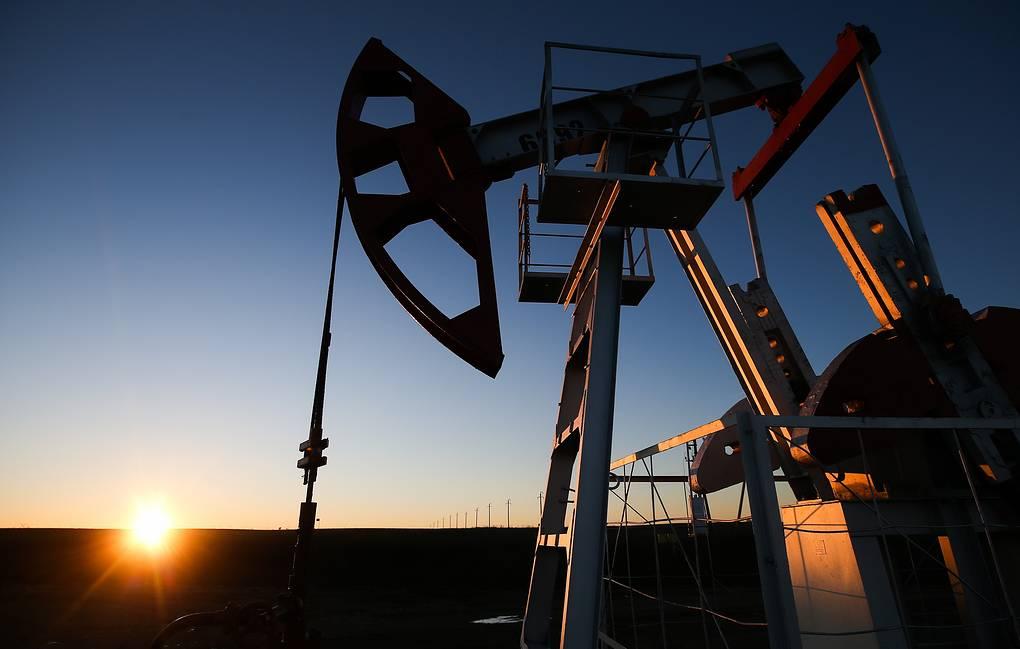 Oil pump jacks in Tatarstan, Russia