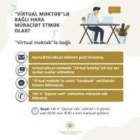 """""""Virtual məktəb""""lə bağlı alternativ müraciət vasitələri"""