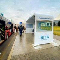 Bakıda ilk bio-smart avtobus dayanacaq pavilyonu quraşdırılıb - VİDEO