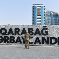 Prezident İlham Əliyev Bakıda açılan Hərbi Qənimətlər Parkının ilk ziyarətçisi olub - FOTO