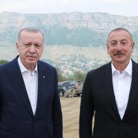 Azərbaycan və Türkiyə Prezidentləri Qarabağda görüşüblər - FOTO