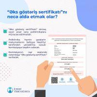 Əks göstəriş sertifikatı, immun sertifikatı və COVİD pasportla eyni hüquqludur