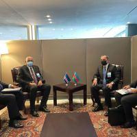 Ceyhun Bayramov BMT Baş Assambleyasının sessiyasında görüşlər keçirib